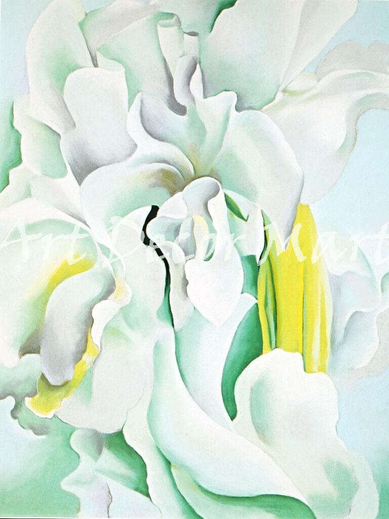 Weiß Sweet Peas-O'Keeffe - - CANVAS OR drucken wand kunst