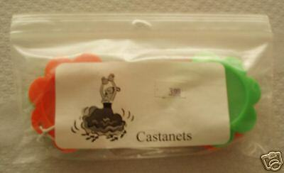 Pair of Plastic Flower-shaped Castanets!