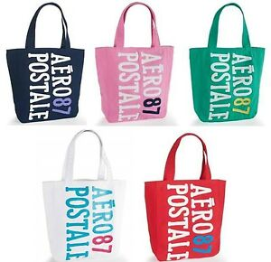 New Aeropostale Aero 87 Puffed Graphic Canvas Tote