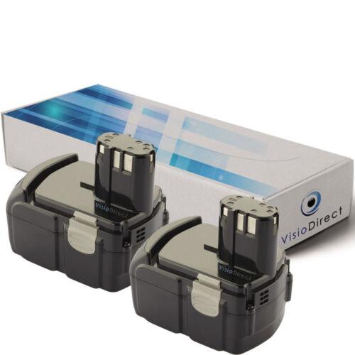 Société Française Lot de 2 batteries 18V 3000mAh pour Hitachi G18DL