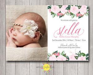 Birth Announcement Baby Fl