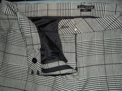 EXPRESS 18 BLACK /& WHITE GLEN PLAID ANKLE EDITOR PANTS cropped crop Houndstooth