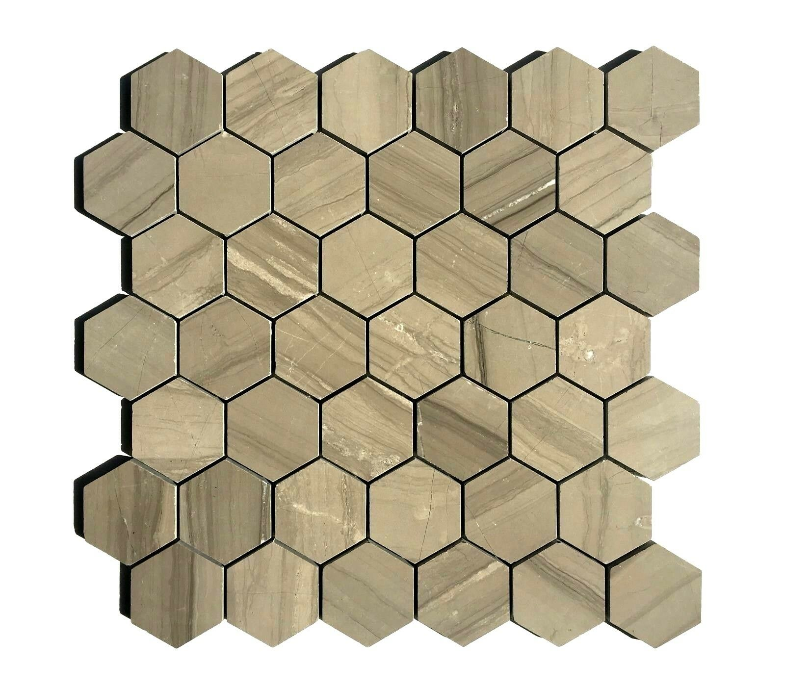 Athens Gray 2 Hexagon Marble Mosaic Wall And Floor Tile Backsplash Kitchen Bath For Sale Online