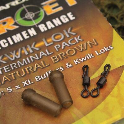 Brown //Specimen Terminal Tackle Gardner Target Mini Buffer Beads Natural Green