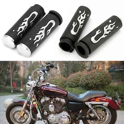 "Motorcycle Hand Grips 1/"" Handlebar Pair For Suzuki Boulevard M109R M50 M90 M95"