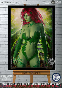 Poison-Ivy-Toxic-Paradise-Special-Edition-Original-Signed-Comic-Art-Print