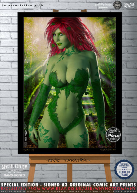 Poison Ivy, Toxic Paradise, Gotham - Special Edition Signed A3 Comic Art Print