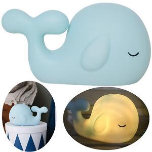 Details zu Kinder LED Nachtlicht Kinderzimmer Baby Tisch-Lampe  Schlummerlicht Wal Delphin