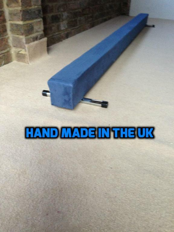 Finest quality gymnastics gym balance beam bluee 5FT long reduced  bargain