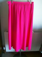 Pink Lined Long Skirt, Size 14, Length 36, M&s, Brand With Tags