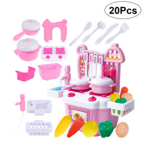 Kids Kitchen Toys Girls Role Play Pretend Cook Set Toy Creative Children's Gift