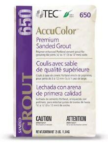Details about TEC AccuColor Premium Sanded Grout - 25 lb