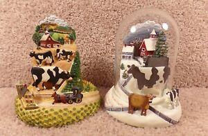 Two Hererro Country Journey And Cows In Winter Hand-Painted Sculpture's & Dome