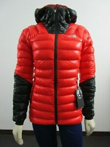 Womens-The-North-Face-TNF-Summit-L3-Down-Hoodie-Hooded-Insulated-Jacket-Fiery