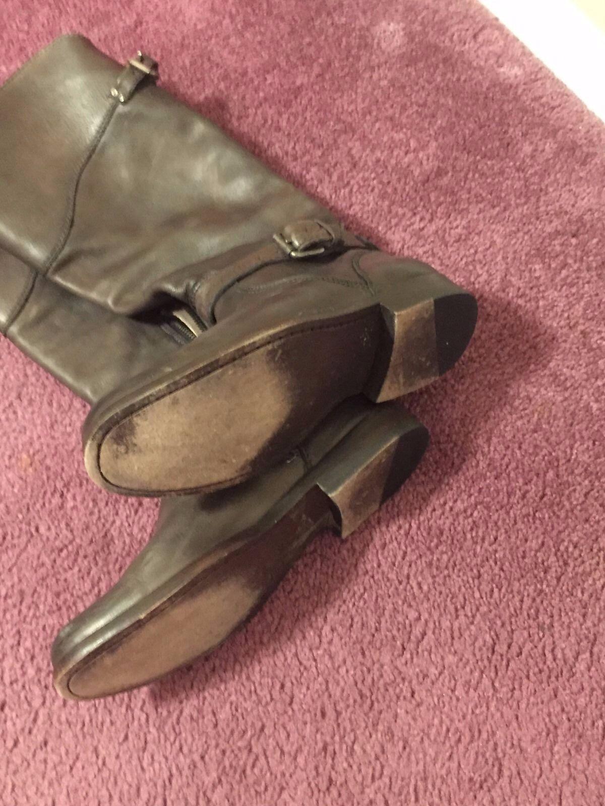 FRYE Phillip Phillip Phillip Vintage Leather Riding Boots Brown Women's Size 7.5  395 8a5f32
