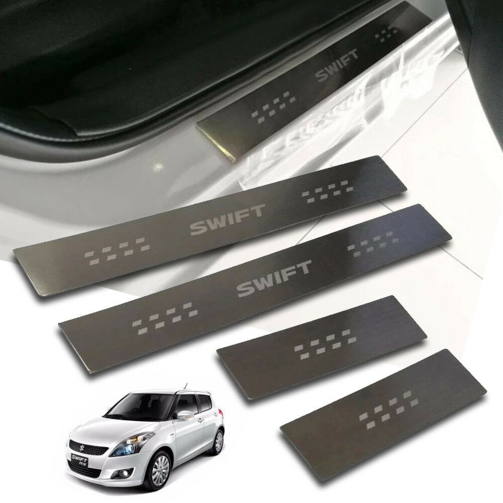 Door Sill Scuff Plate Protectors Guards Fit For Ford Ranger Double Cab 2012-2018