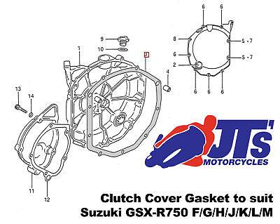 Cometic Gasket Cometic Clutch Cover Gasket #EC091020F Suzuki GSX-R600//GSX-R750