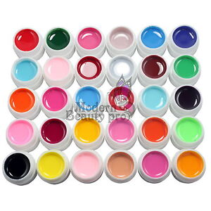 30-PCS-Solid-Pure-Mix-Color-UV-Builder-Gel-nail-art-kit-Acrylic-Set