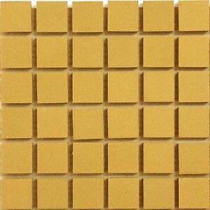 20mm Ceramic Unglazed Porcelain Mosaic Tiles Yellow 49 Tile Pack