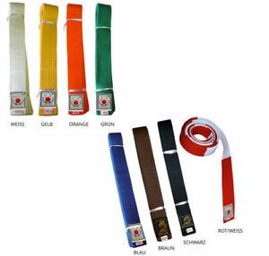 Judogürtel   Budogürtel   Farben auswählbar   Einfarbig   Taekwondo - Karate