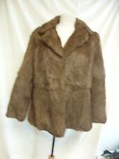 Ladies Coat - Brown Fur, Size 16, Made in Korea-  1710