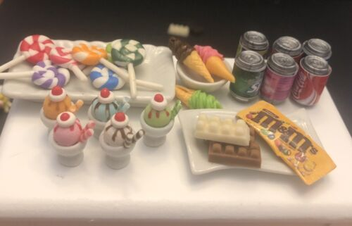Mini Sweets Candy Dollhouse Food Littlest Pet Shop Lps Lol 6pc