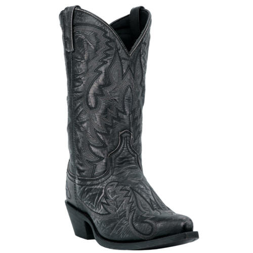 "Laredo Garrett 01-68407-BK17 Men/'s 12/"" Black Leather Cowboy Boots"