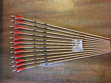 Gold Tip Traditional 500 Arrows With Shield Cut Feathers Custom Made Set of 12