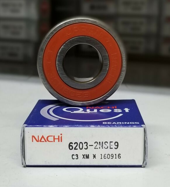 5//8x40mmx12mm 6203-10-2RS 5//8 cm NACHI Japan Sealed Ball Bearing