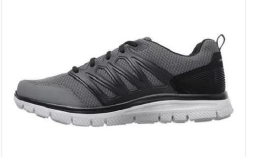 Men's SKECHERS FLEX ADVANTAGE 1.0 Gray+Black Athletic Sneakers Shoes 58353 NEW The latest discount shoes for men and women