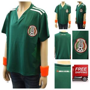 5574bf1c4 Mexico Soccer Jersey 2018 World Cup Uniform T-Shirt Kids Youth Team ...