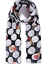 Black Rose Print With Circles Scarf scarves shawl wrap present gift free bag
