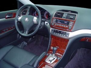 acura tsx base interior burl wood dash trim kit set 2004 04 2005 rh ebay com Acura TSX JDM Acura TSX Repair Manual