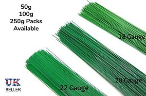 50g-100g-amp-250g-Green-Florist-Stub-Wire-Large-Choice-of-Gauge-amp-Length-Wires-ML