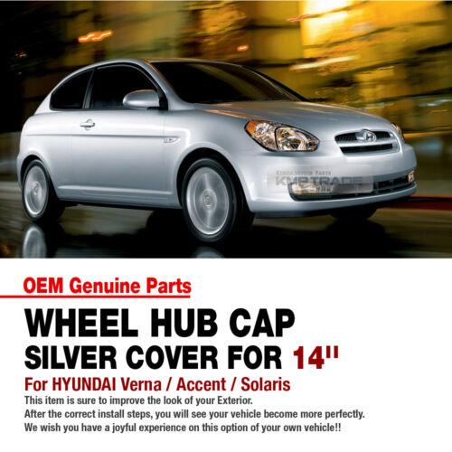 "Accent OEM Genuine Parts 14/"" Wheel Hub Cap Cover 4P For HYUNDAI 2006-10 Verna"