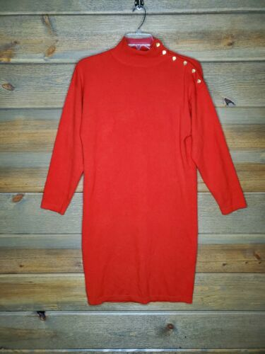 Bloomingdale's Vintage Red 100% Cashmere Womens Me