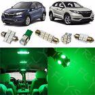 10x Green LED lights interior package kit for 2016 & Up Honda HR-V HV4G