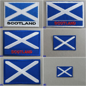 Scotland Flag Iron-On - Sew On Cloth Patch Badge Scottish Saint Andrew's Cross H3aUtlCQ-09154802-822961114