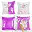 Personalised-Sequin-Cushion-Magic-Unicorn-Text-Reveal-Pillow-Case-amp-Insert thumbnail 7