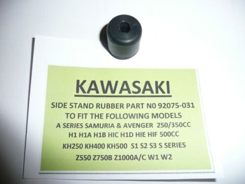 KAWASAKI 1970s  Z750B TWIN CYL MODEL/'S SIDE STAND RUBBER PART NUMBER 92075-031