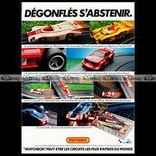 MATCHBOX Lesney 'Circuit Le Mans 4000' Porsche 936 Slot Car 1978 - Pub Ad #A892
