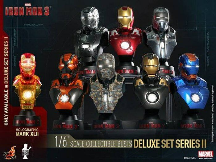 Iron Man 3 - 1:6 Scale Bust Set of 8 Series 2-HOTHTB21-27