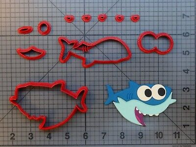 Music Shark Character 266-A338 Cookie Cutter Set
