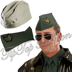 457949f6efae3 La imagen se está cargando Americano-US-ARMY-Sombrero -GI-LATERAL-Caqui-Gorra-