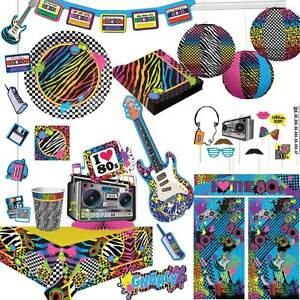 mega 80er 80ies jahre party disco retro fieber deko sets schlagerparty motto ebay. Black Bedroom Furniture Sets. Home Design Ideas