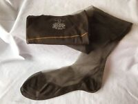 Vintage 1940s Stockings Rare Usa Gotham Gold Stripe Seam Cuban Curvy Pinup Sz 11
