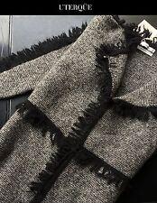 NWT Wool Alapca Fringed UTERQUE by ZARA Coat Cardigan 150€ Size S