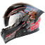 New-Motorcycle-Helmet-Flip-Up-Modular-Motobike-Bluetooth-Helmet-1200-mAh-battery miniature 12