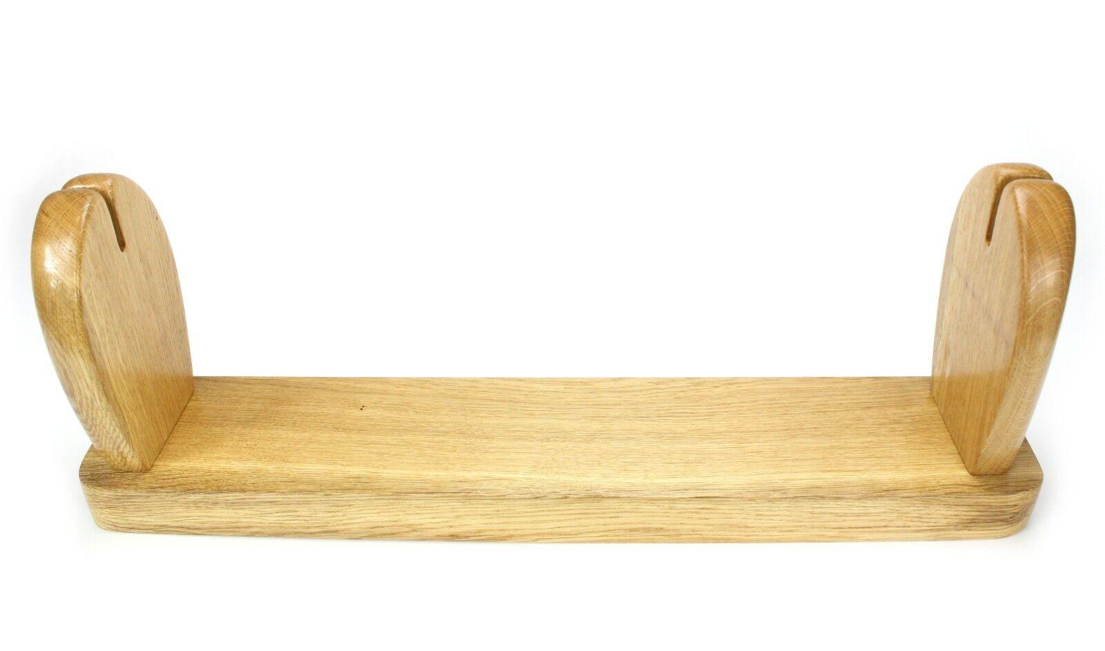Unique Unique Unique hand crafted Oak Book Trough, Book Shelf, Bookends. 66cm. Scottish artist 5059c8