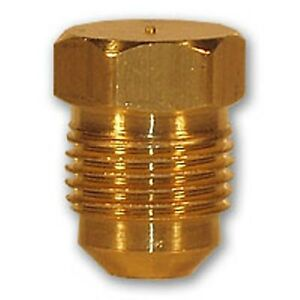 1 4 inch flare plug brass pipe fitting npt soft copper air for Copper water pipe connectors